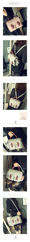 [Abigail] กระเป๋าเป้มัลติฟังก์ชั่นสไตล์วิทยาลัยสไตล์เกาหลี 6112 (สีชมพู)